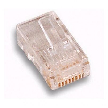 Intellinet Plug Telefonico per Cavo Rotondo 8 Poli 501798 IWP-8P8C-R