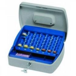 Lebez 098 Blu, Grigio cassetta per monete e banconote