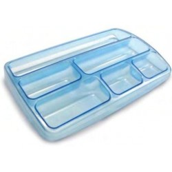 ARDA TR3110 Hard pencil case Blu, Trasparente TR3110BLU