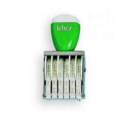 Lebez 0178 Verde, Bianco timbro