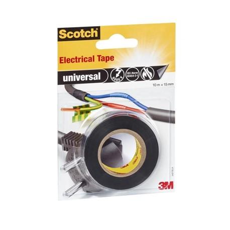 Scotch Rotolo Nastro Isolante Nero 4401BLA 15 mm x 10 Mt 99074