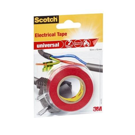 Scotch Rotolo Nastro Isolante Rosso 4401RED 15 mm x 10 Mt 99154