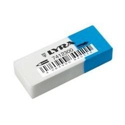 Lyra 7412300 Blu, Bianco gomma per cancellare L7412300
