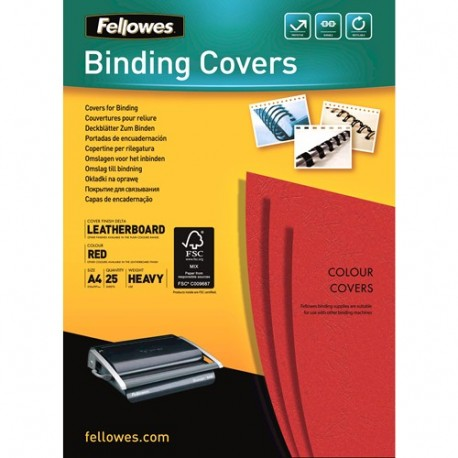 Fellowes 5373702 A4 Carta Rosso 25pezzoi cartellina
