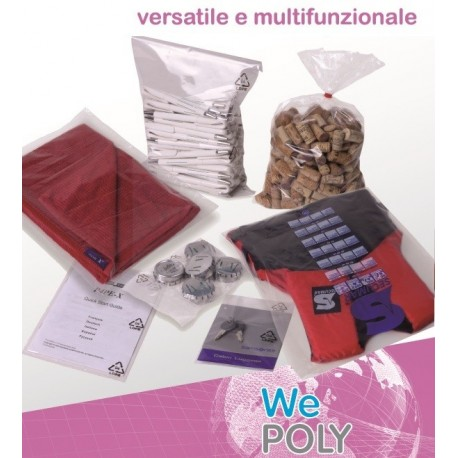 Willchip We POLY Trasparente 1000pezzoi busta in plastica P300400