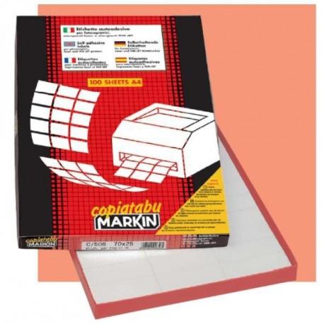Markin 210C547 Bianco 2400pezzoi etichetta autoadesiva