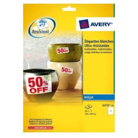 Avery J4775 10 Bianco 10pezzoi etichetta autoadesiva