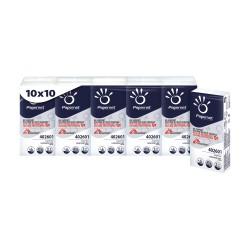 Papernet 10 Pacchetti 10 Fazzolletti di Carta Bianchi 402601