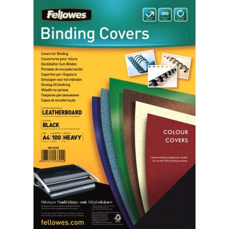 Fellowes Delta A4 Carta Nero 100pezzoi cartellina 5370405