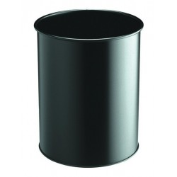 Durable Waste basket metal round 15 15L Nero cestino 3301 01