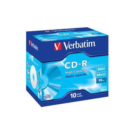 Verbatim CDR DATAL.90MIN 800MB 40X CF.10 S
