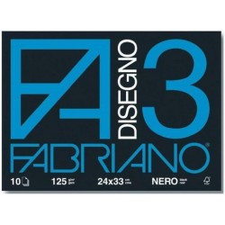 Fabriano CF10ALBUM DIS F3 NERO 24X33 125GR
