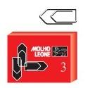 Molho Leone Leone 3 Metallo fermaglio 21113