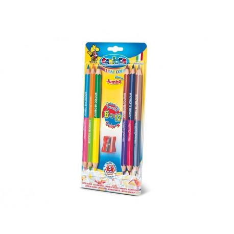 Carioca Bi Color Multi 6pezzoi pastello colorato 42264