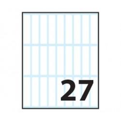 Tico E 4811 Rettangolo Permanente Bianco 270pezzoi etichetta autoadesiva