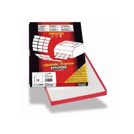 Markin 210R315 Cerchio Permanente Bianco 600pezzoi etichetta autoadesiva