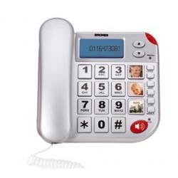 Brondi Super Bravo Plus Telefono analogico Identificatore di chiamata Bianco BRNSUPERBRAVOPL