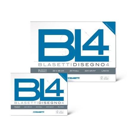 Blasetti BL4 Liscio 20fogli carta da disegno 6174
