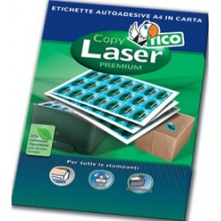 Tico Copy laser premium Bianco 2400pezzoi etichetta autoadesiva LP4W 7036