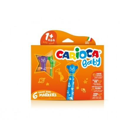 Carioca Teddy Marker 1 Extra grassetto Multicolore 6pezzoi marcatore 42815C