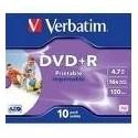 Verbatim DVD+R Wide Inkjet Printable ID Brand 4.7GB DVD+R 10pezzoi 4350810