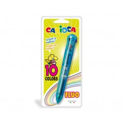 Carioca 10 Colors Clip on retractable ballpoint pen Multi 1pezzoi 41500