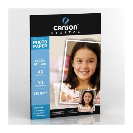 Canson Performance Glossy A4 240G A3 Bianco carta fotografica 200004326