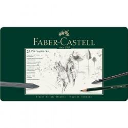 Faber Castell SET METALLO PITT MONOCR. 26 PZ