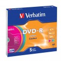 Verbatim DVD-R Colour 4,7 GB 5 pezzoi 435575