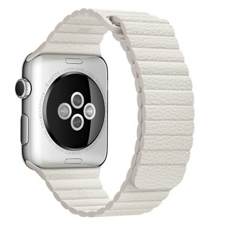 Apple MMAX2ZMA Band Bianco Pelle accessorio per smartwatch