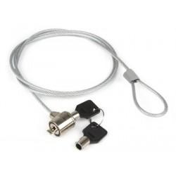 Hamlet Notebook Lock cavo di sicurezza per pc e notebook con lucchetto a chiave di 120 cm in acciaio XNBLOCK12K