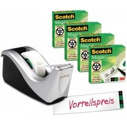 Scotch C60 ST4 Plastica Nero, Argento dispenser nastro adesivo 75114A