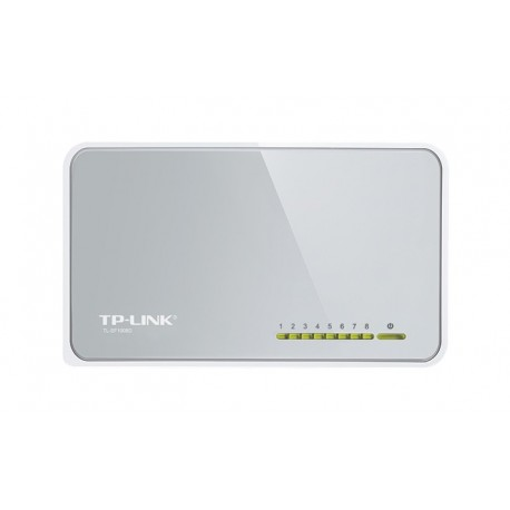 TP LINK 8 Port 10100Mbps Desktop Switch No gestito Bianco TL SF1008D
