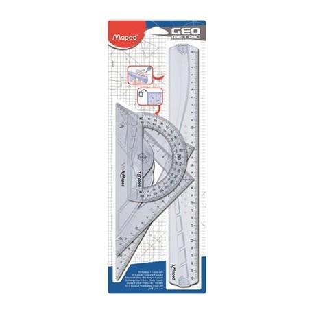 Maped Maxi 4pezzoi Plastica set di righelli 242767
