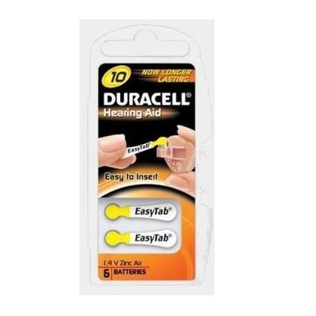 Duracell DA10 ACUSTICA Zinco aria 1.4V batteria non ricaricabile DU78