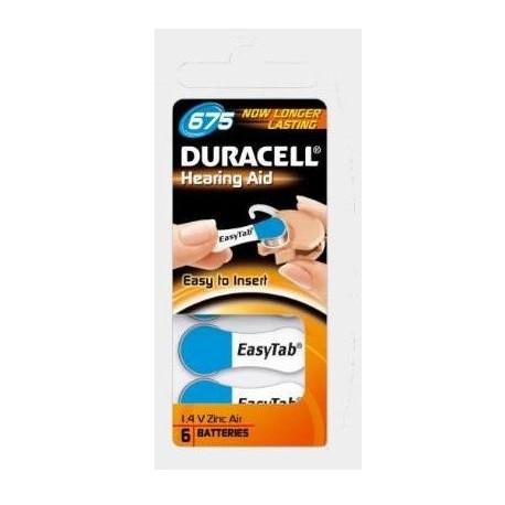 Duracell DA675N6 Zinco aria 1.4V batteria non ricaricabile DU81