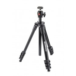 Manfrotto MKCOMPACTLT BK treppiede Fotocamere digitalifilm 3 gambagambe Nero
