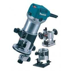 Makita RT0700CX2J 10000 30000Girimin 710W Nero, Ciano, Metallico router a corrente