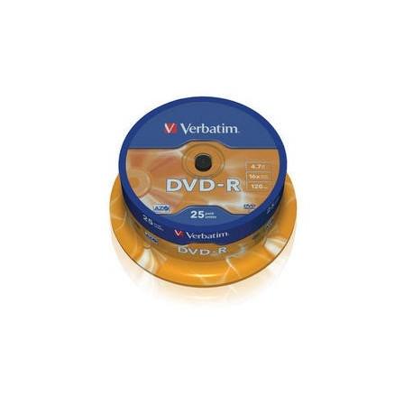 Verbatim DVD R Matt Silver 4.7GB DVD R 25pezzoi 4352225