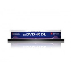 Verbatim DVD R Double Layer Matt Silver 8x 8.5GB DVD R DL 10pezzoi 4366610