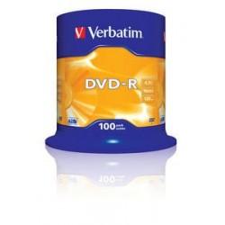 Verbatim DVD R Matt Silver 4,7 GB 100 pezzoi 43549100