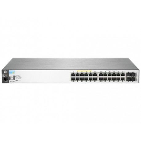 HP Aruba 2530 24G PoE Gestito L2 Gigabit Ethernet 101001000 Grigio 1U Supporto Power over Ethernet PoE J9773A