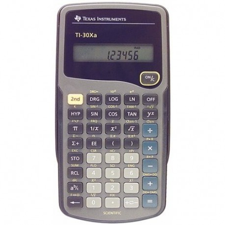 Texas Instruments TI 30XA Tasca Calcolatrice scientifica Grigio calcolatrice TI30XA