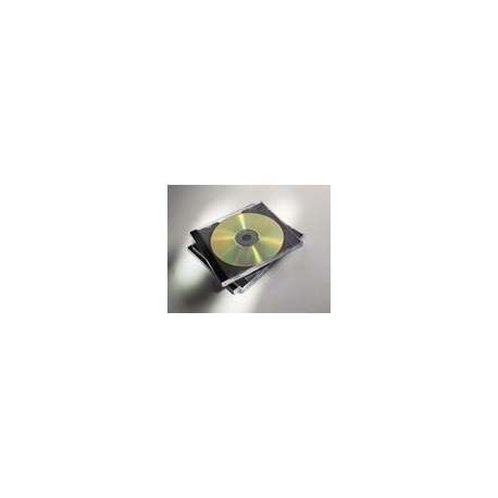 Fellowes 98305 custodia CDDVD Custodia Jewel 1 dischi Nero, Trasparente