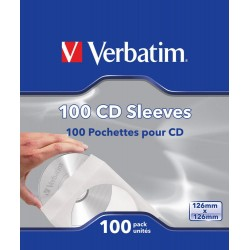 Verbatim CD DVD PAPER SLEEVES 100 PK