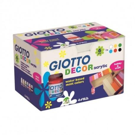 Giotto Decor 25ml 6pezzoi pittura ad acqua 538200