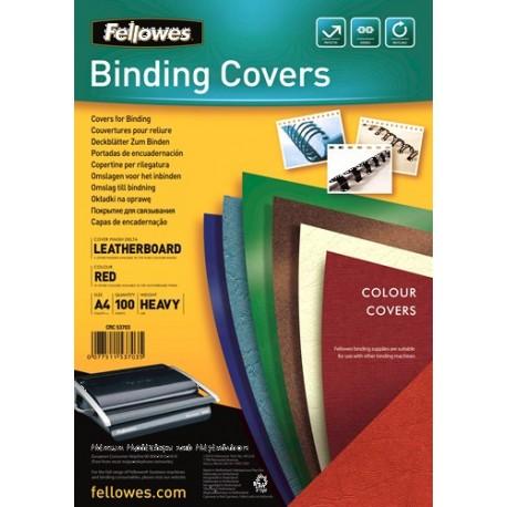 Fellowes Delta cartellina A4 Carta Rosso 100 pezzoi 5370305
