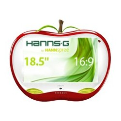 Hannspree HA 195 HPR LED display 47 cm 18.5 WXGA LCD Opaco Rosso, Bianco HA195HPR
