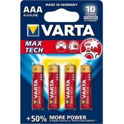 Varta Max Tech AAA 4 pack Alcalino 1,5 V 4703101404