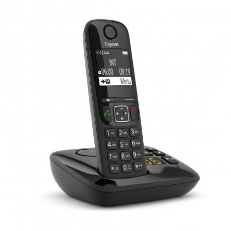 Gigaset  AS690A Telefono analogicoDECT Nero Identificatore di chiamata S30852H2836K101